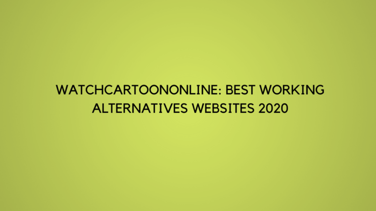 Watchcartoononline